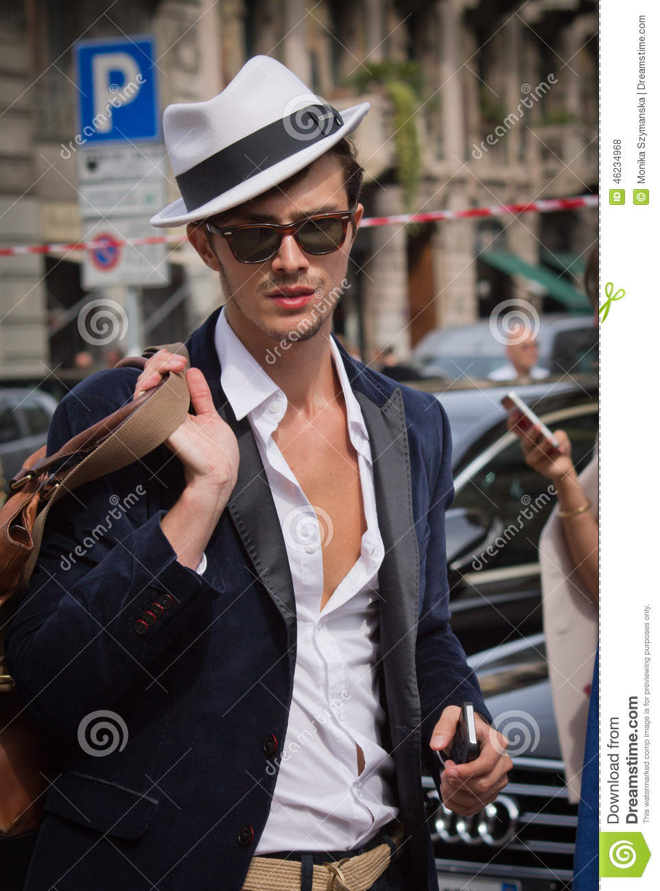 Street Style During Milan Fashion Week For Spring Summer 2015 Editorial Stock Photo Image