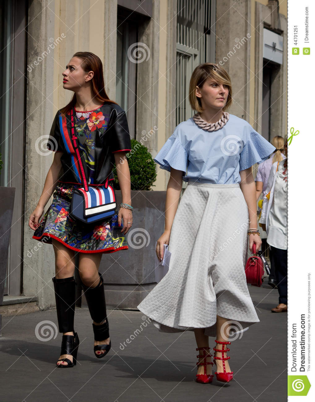 Street Style During Milan Fashion Week For Spring Summer 2015 Editorial Photo Image 44701251