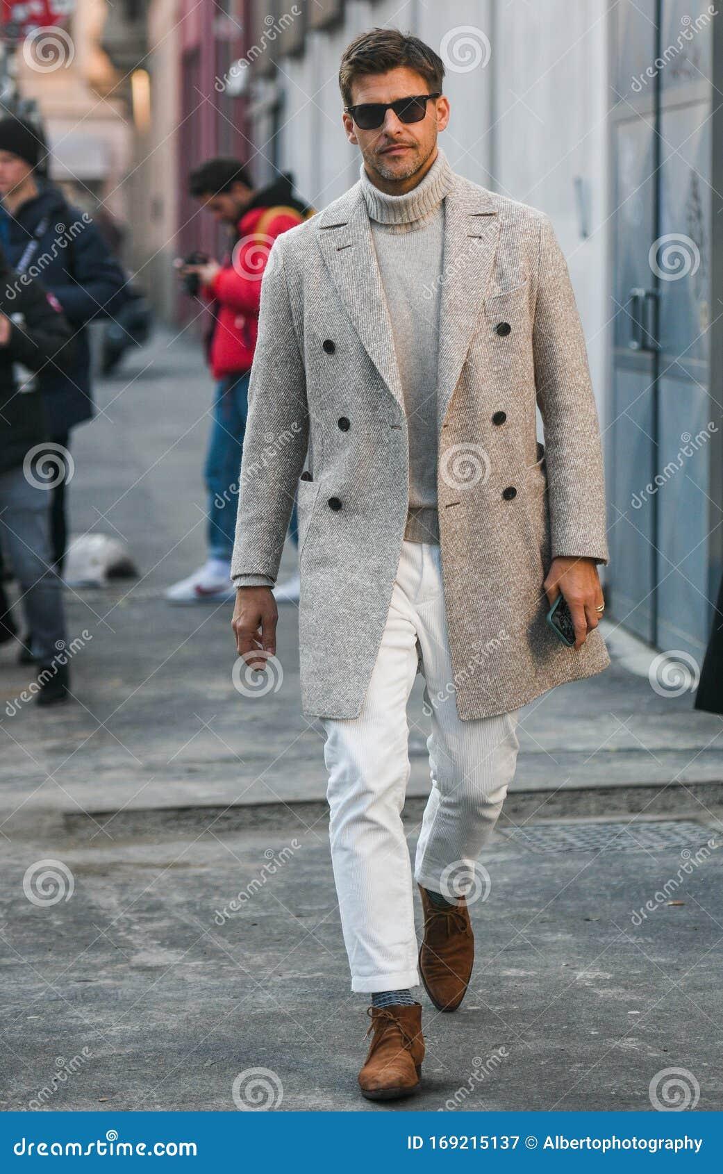 Street Style Während Der Mailänder Modenwoche Men Redaktionelles ...