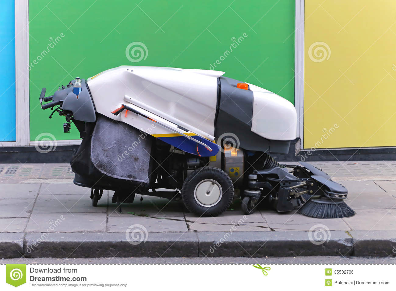 Street Sweeper Royalty Free Stock Image Image 35532706