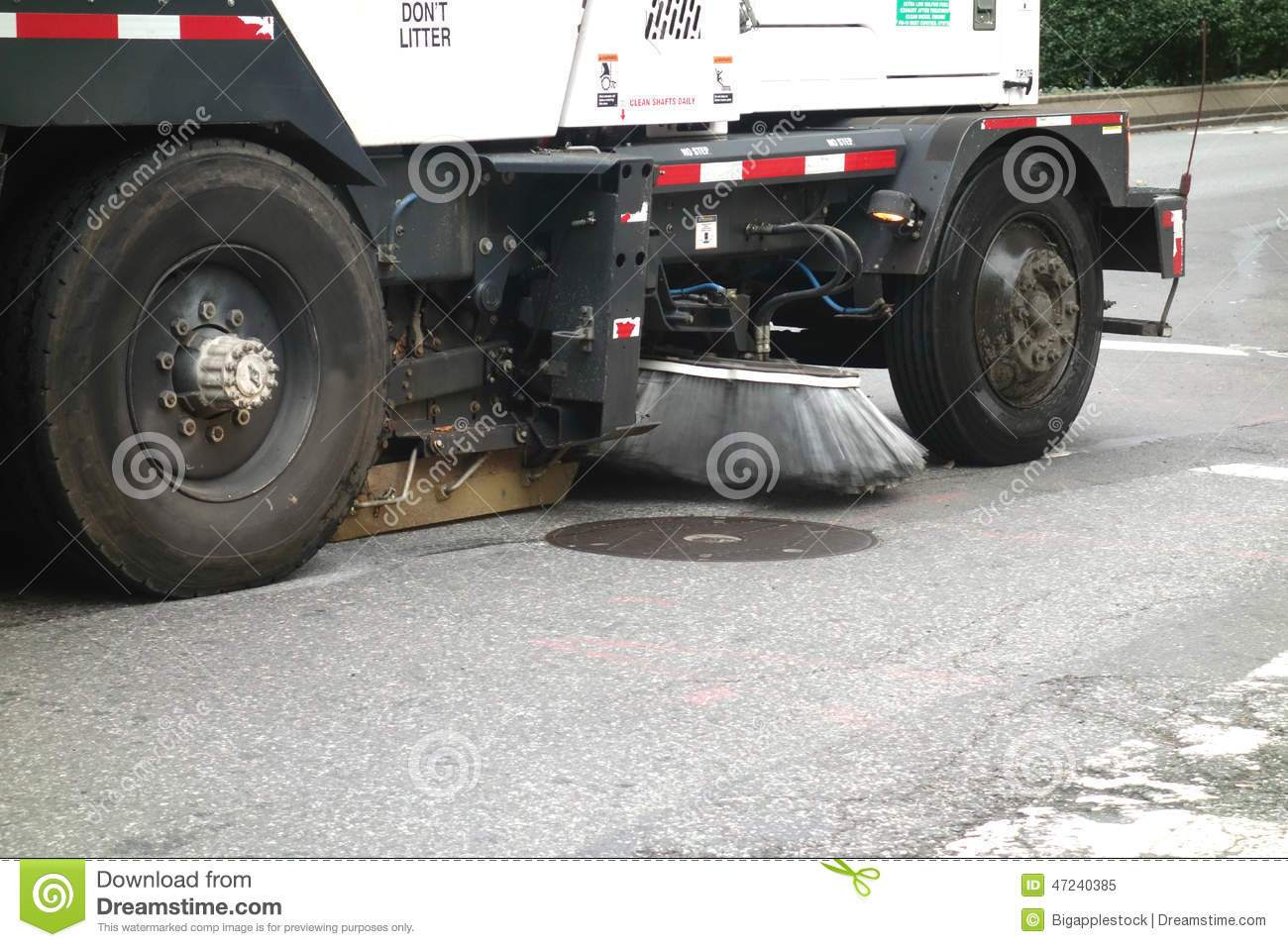 Street Sweeper Truck Stock Image Image Of Sweeper York - Nyc street sweeping map