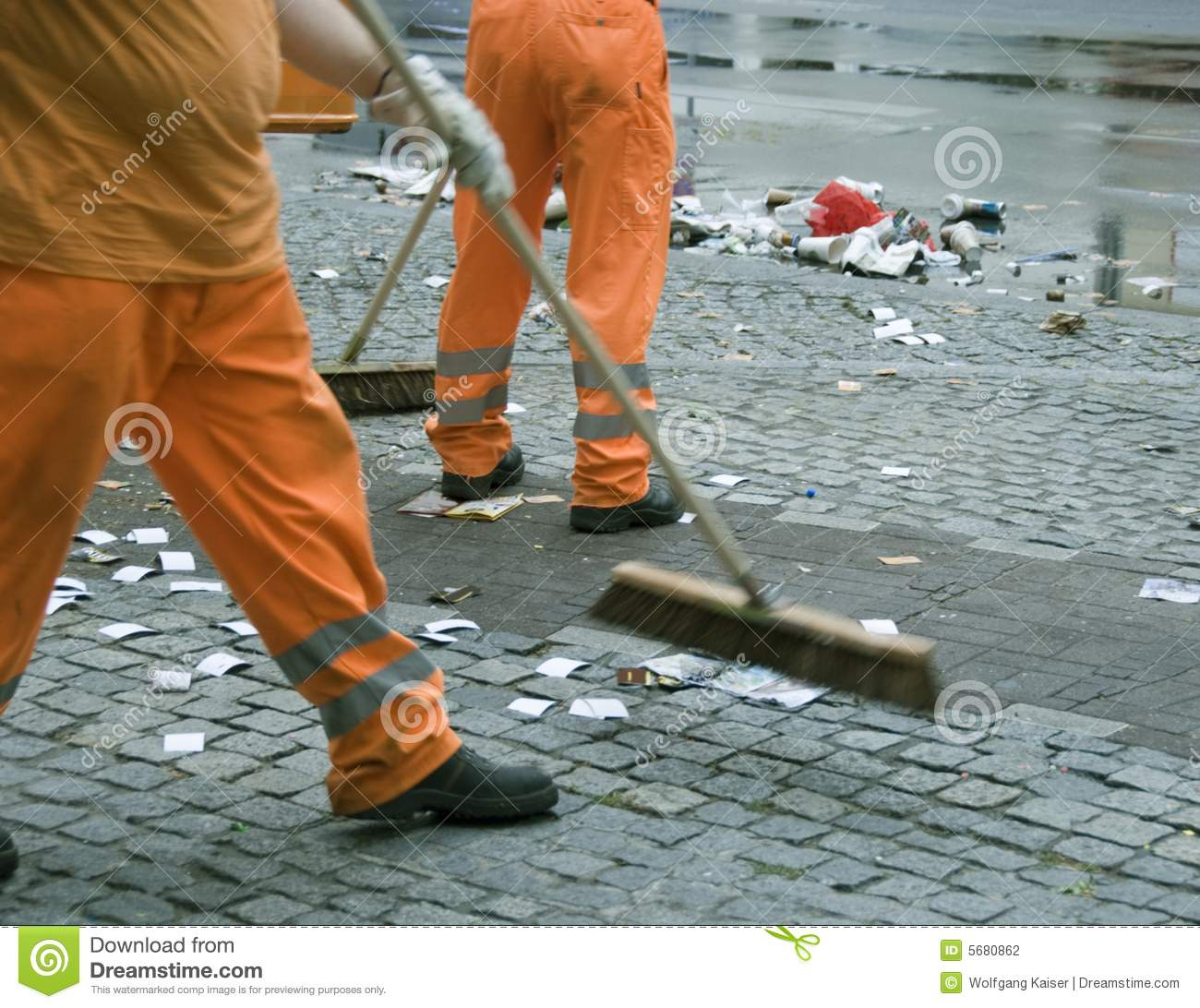 Street Sweepers Stock Photo Image Of Movement Safety