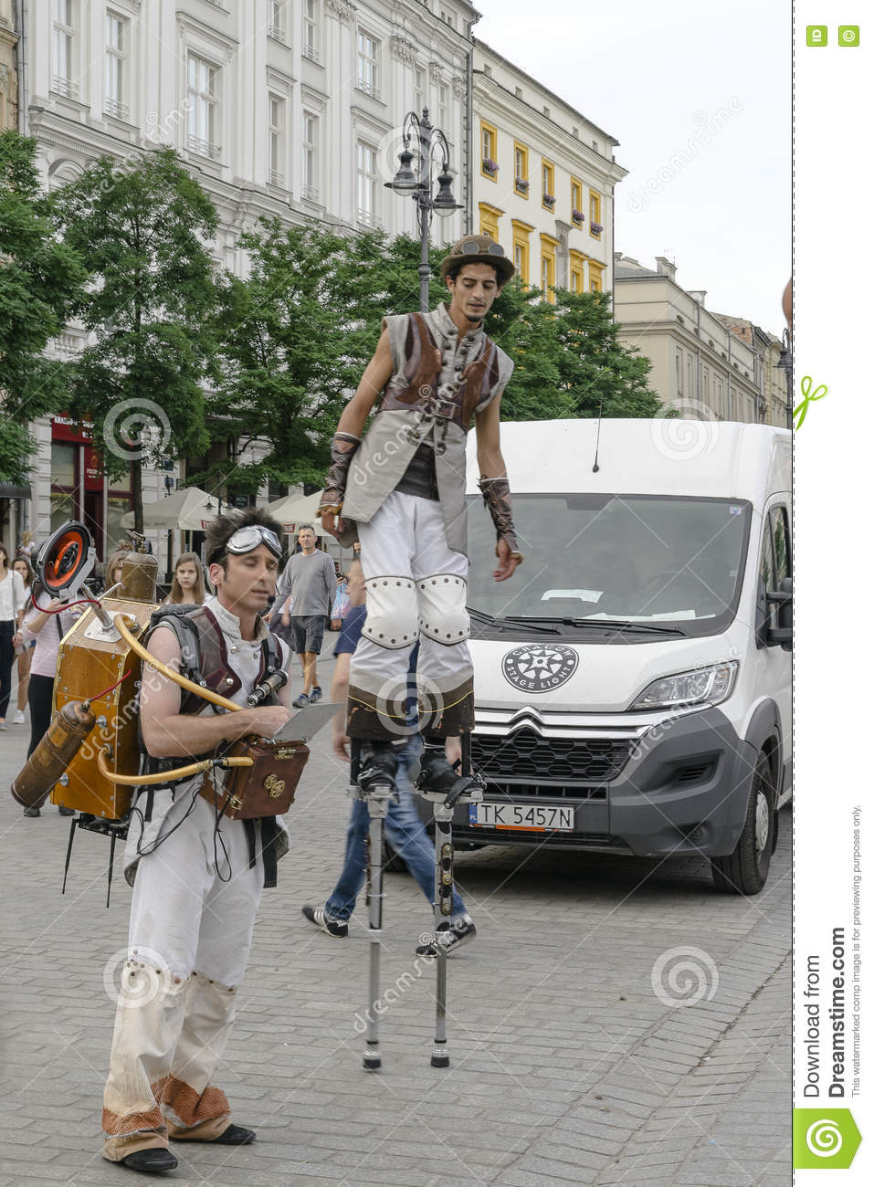 Street Theater Festival In Krakow Editorial Image - Image of funny