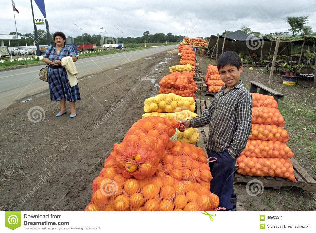 Latino Auto Sales >> Street Trading, Sales Of Fruits By Argentine Boy Editorial ...