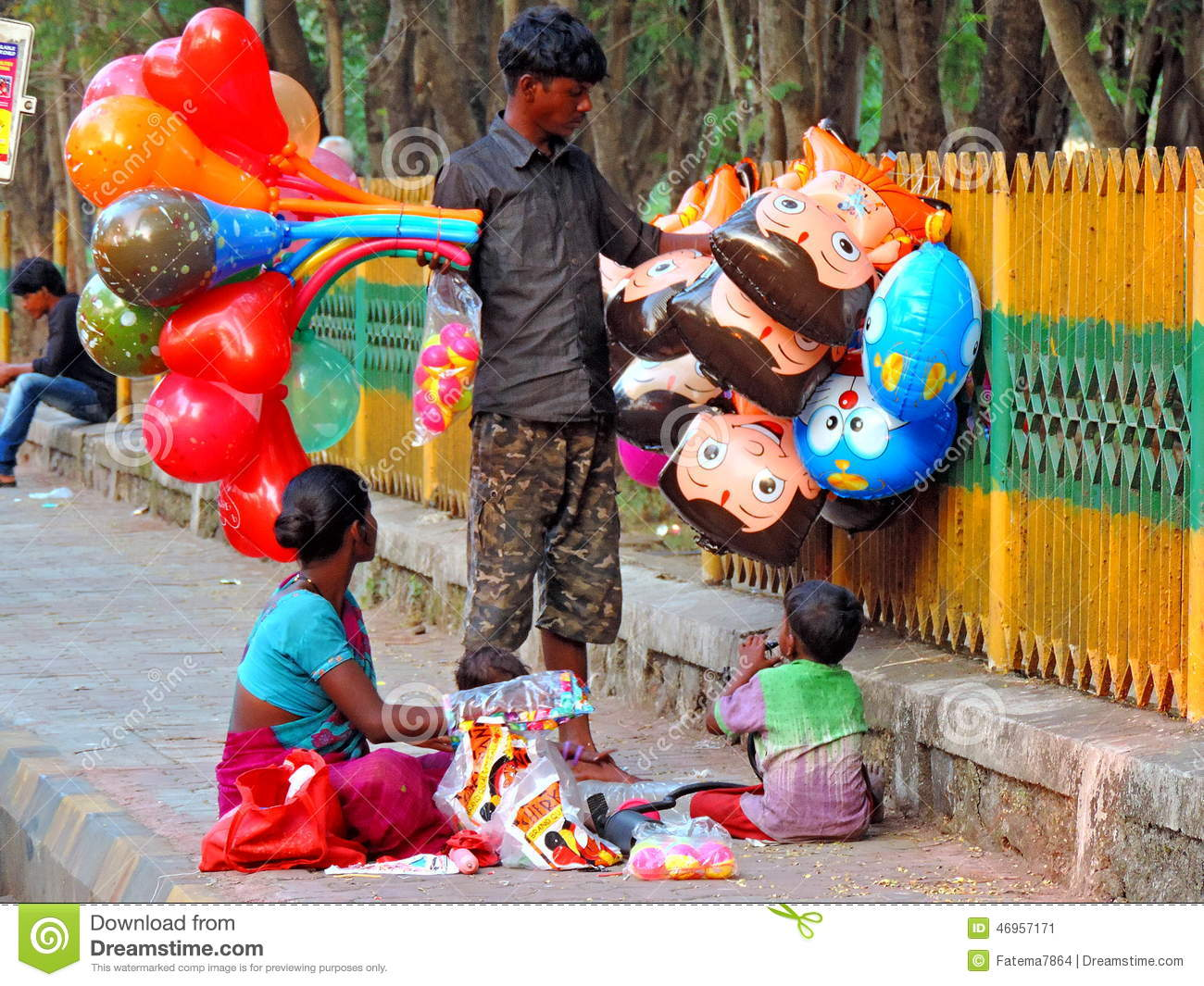 Toys For Poor : Street vendor in india editorial photo image of family