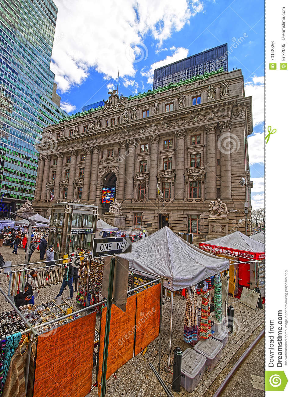 Street view of Alexander Hamilton US Custom House Lower Manhatta