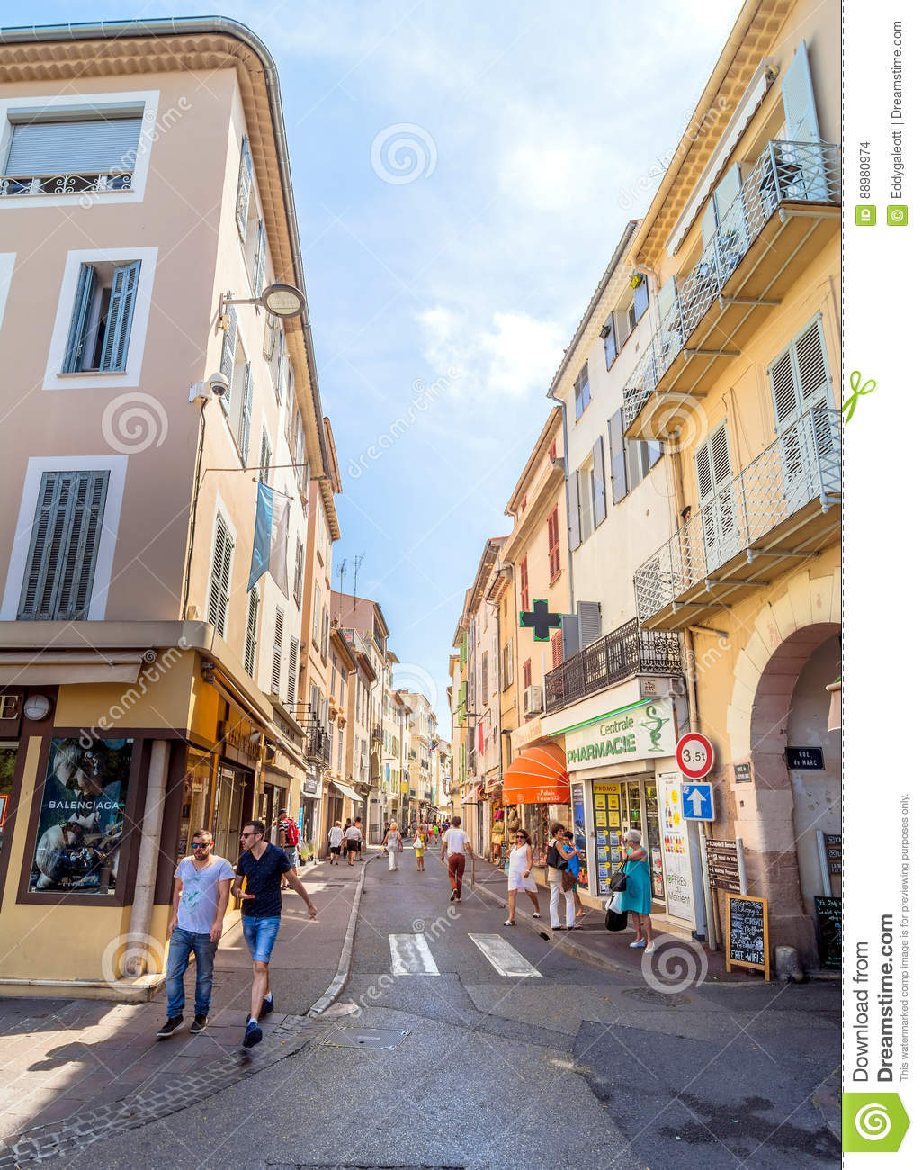 street view in antibes old town france editorial stock image image of shopping restaurant. Black Bedroom Furniture Sets. Home Design Ideas