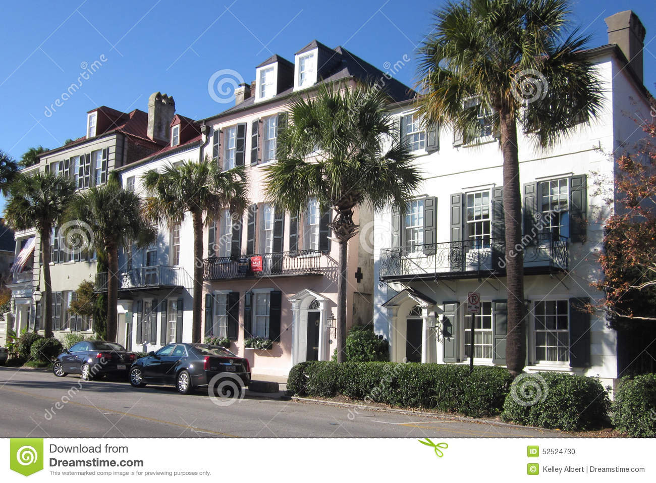 Street view of charleston south carolina stock photo for Builders in south carolina