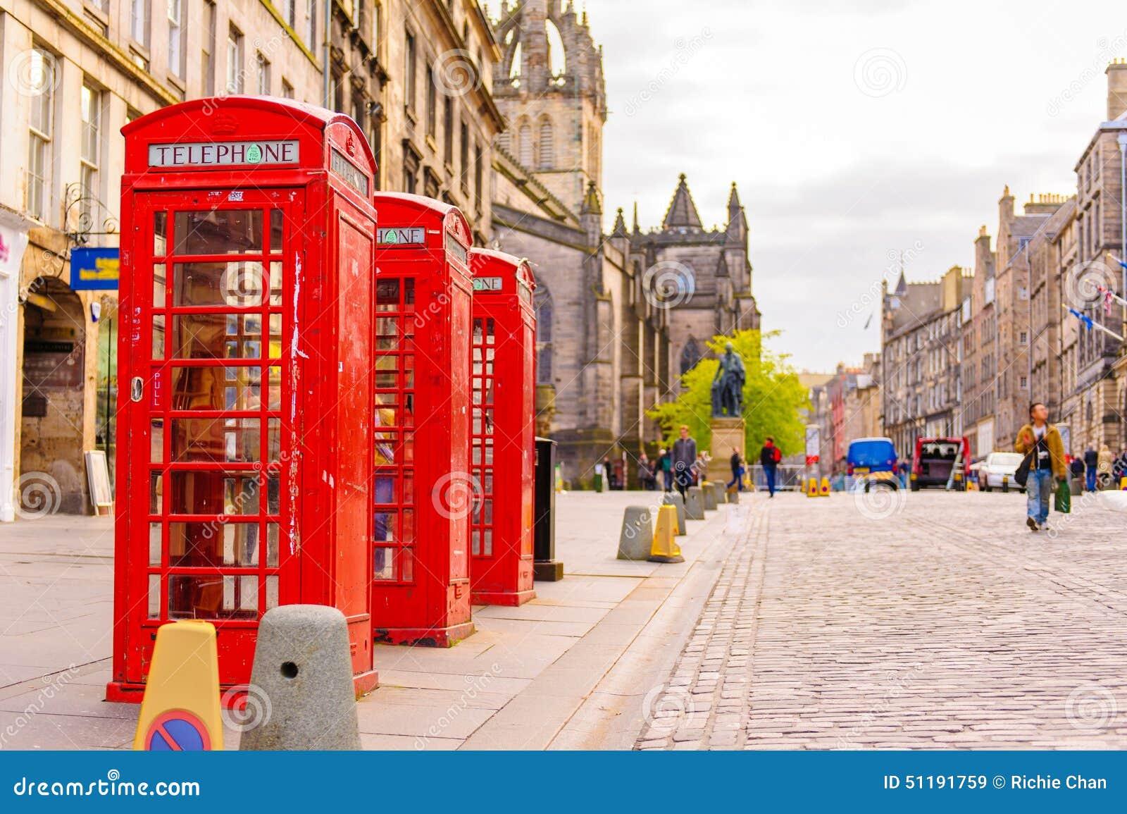 Street view of Edinburgh, Scotland, UK