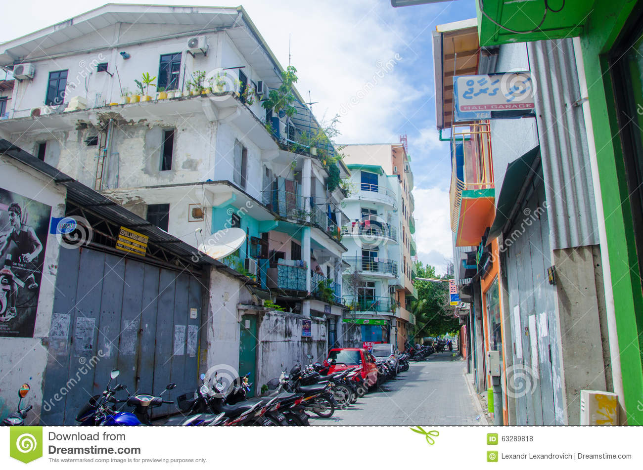 Free Building Plans Street View At Male Maldives Editorial Stock Photo