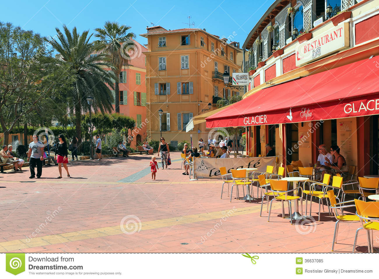 street view in menton france editorial image image 36637085. Black Bedroom Furniture Sets. Home Design Ideas