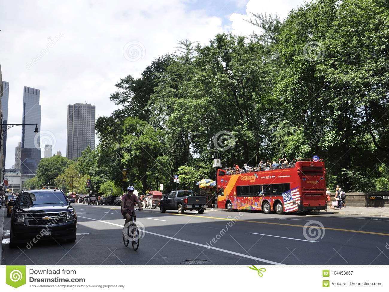 New York City, 1st July: Street view in Midtown Manhattan from New York City in United States
