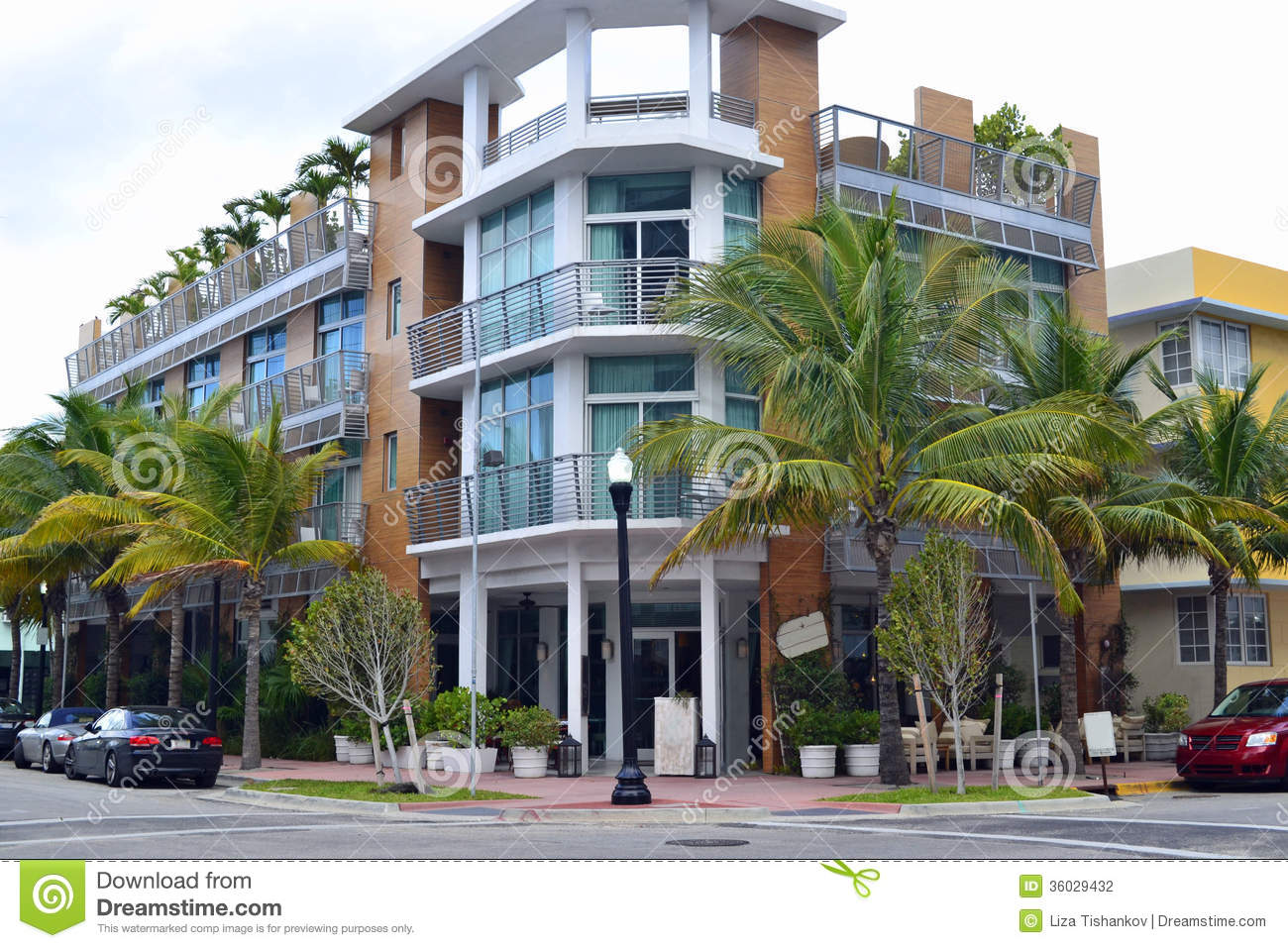 street view south beach  miami stock photography