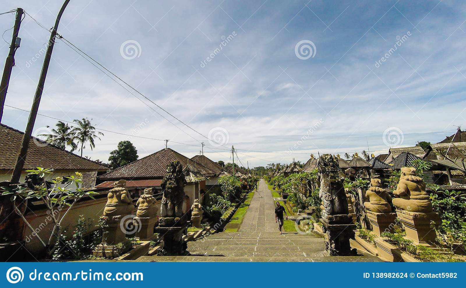 Street View Of The Traditional Village Penglipuran In Bali Editorial Stock Image Image Of Bali Monument 138982624