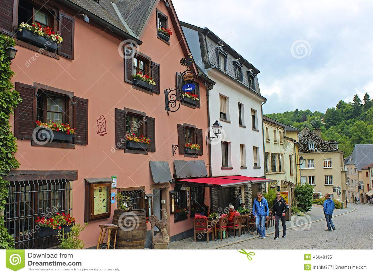 Street view in vianden luxembourg editorial image image for Luxembourg homes