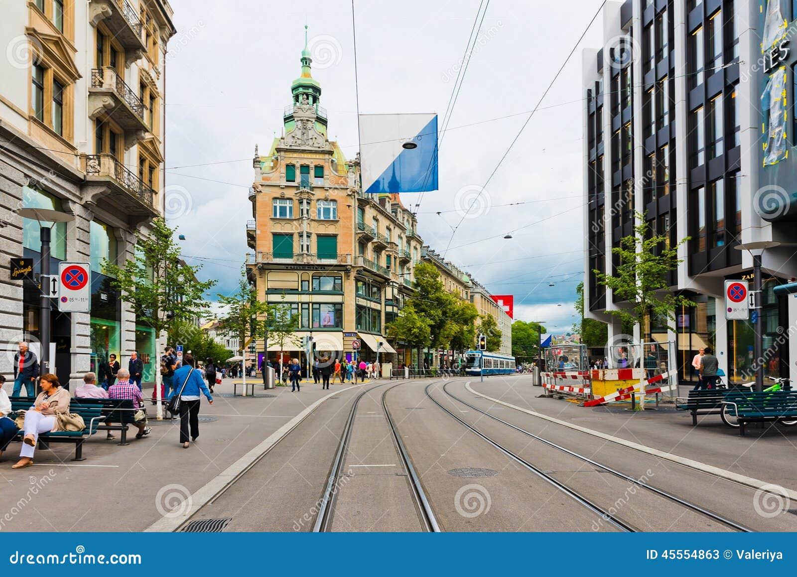 Street map Zurich Switzerland