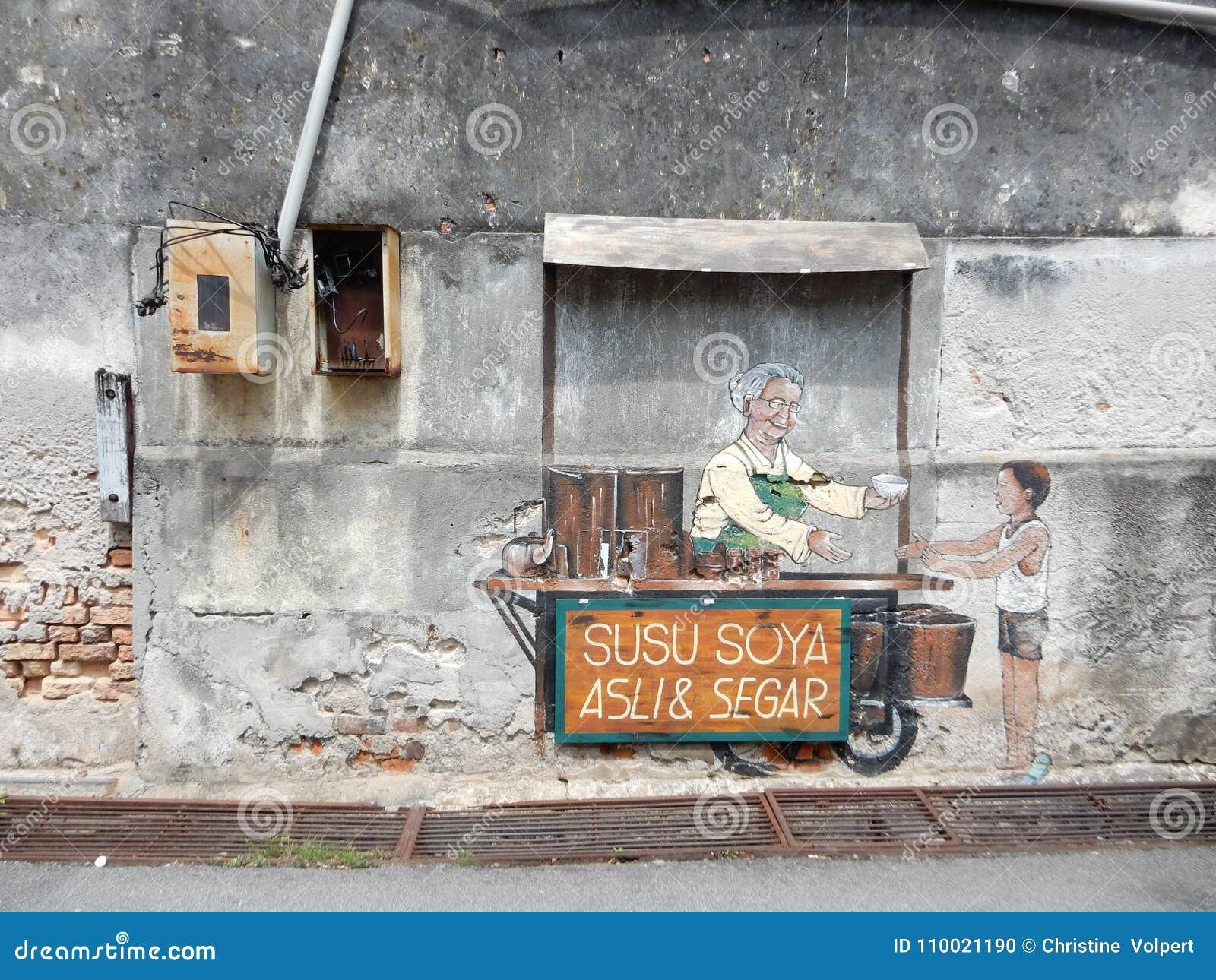 Streetart w Penang w Malezja