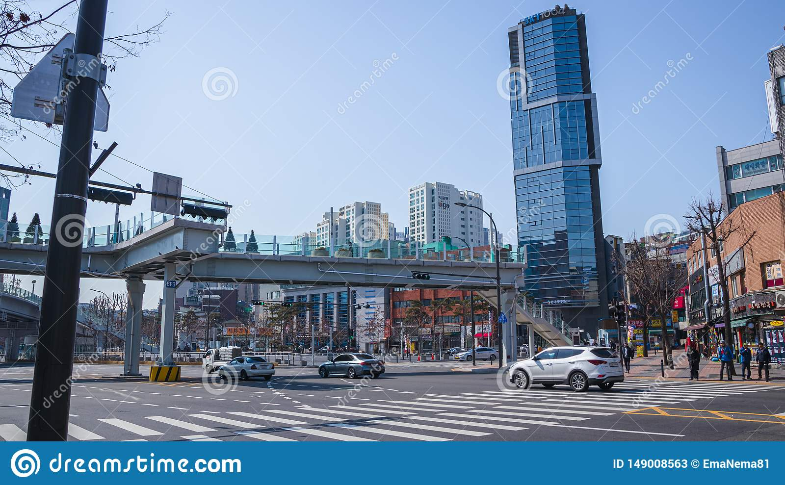 Streets and buildings in Seoul