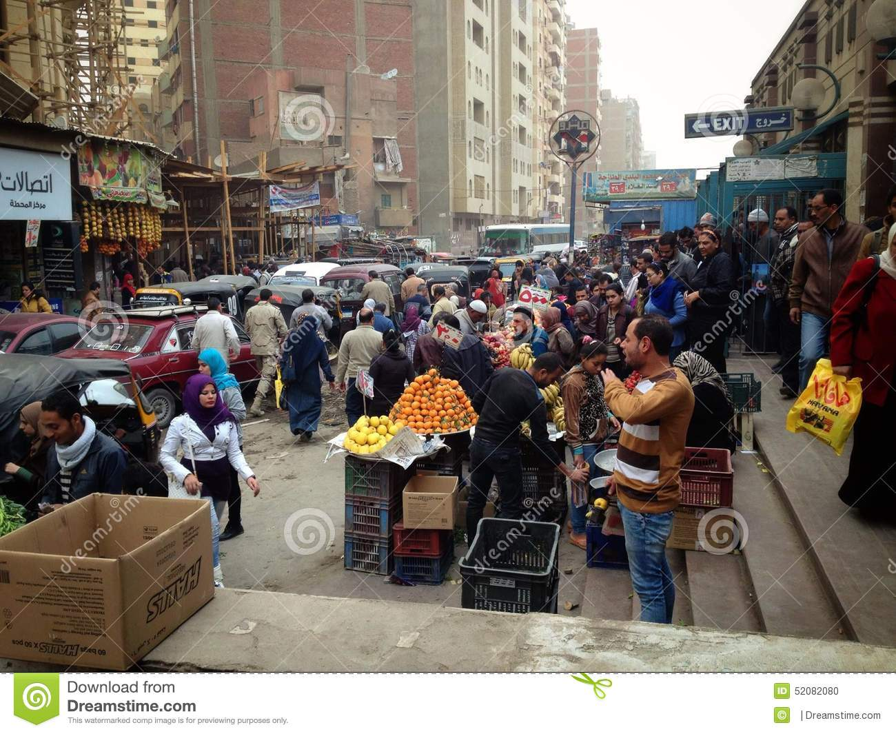 on the streets of cairo busy city editorial image   image