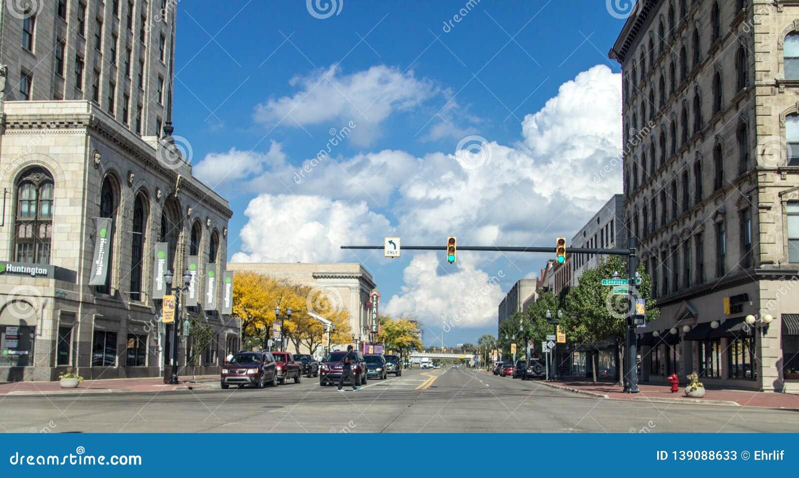 Streets Of Downtown Saginaw Michigan