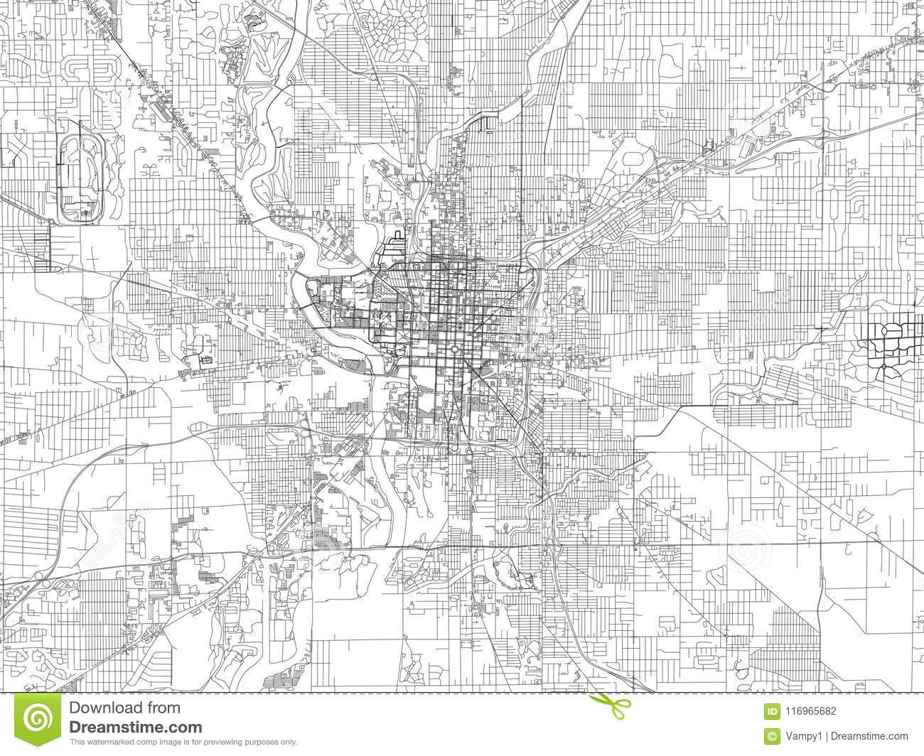 Streets Of Indianapolis City Map Capital City Indiana Streets