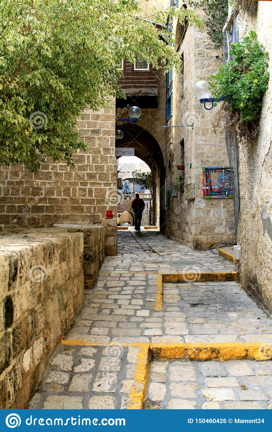 The streets of old Jaffa