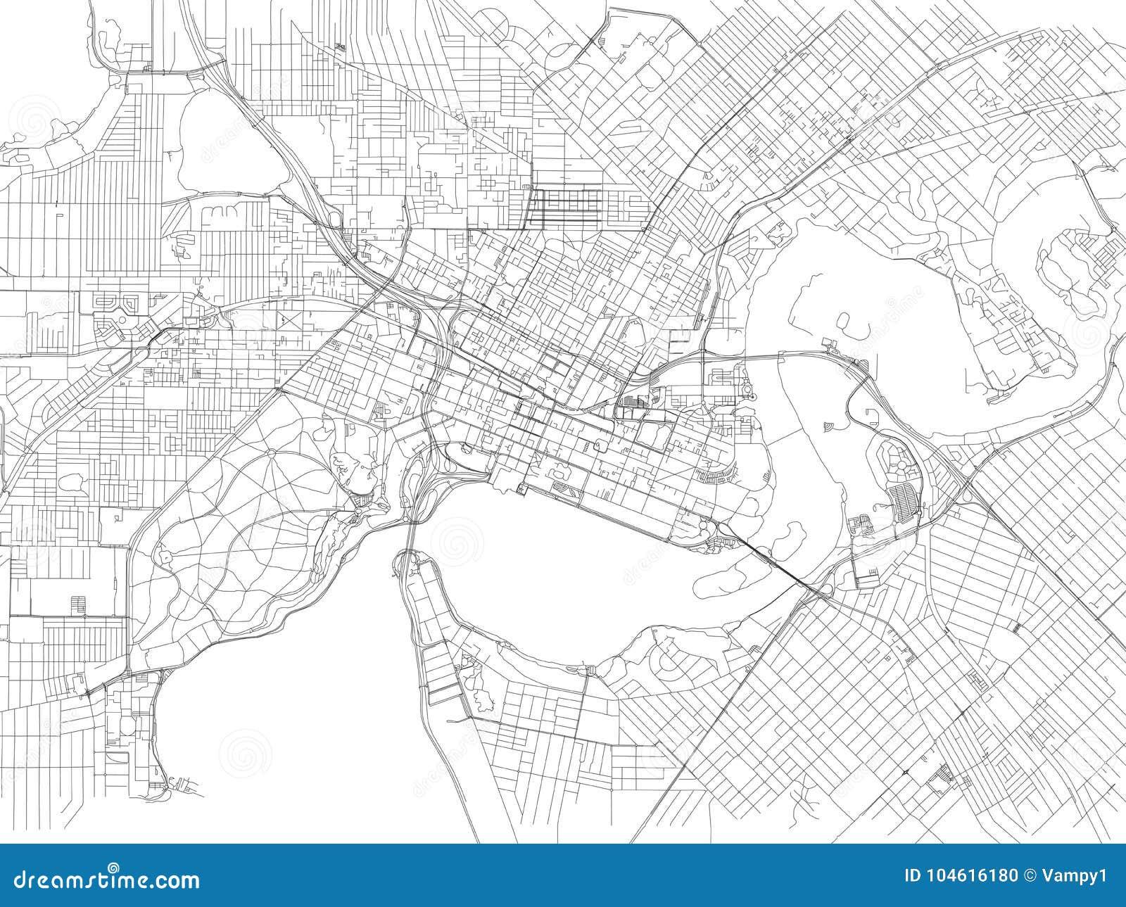 Street Map Australia.Streets Of Perth City Map Australia Stock Vector Illustration Of