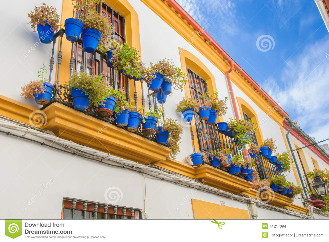 Streets In A White Village Of Andalucia, Southern Spain Stock Photo - Image: ...