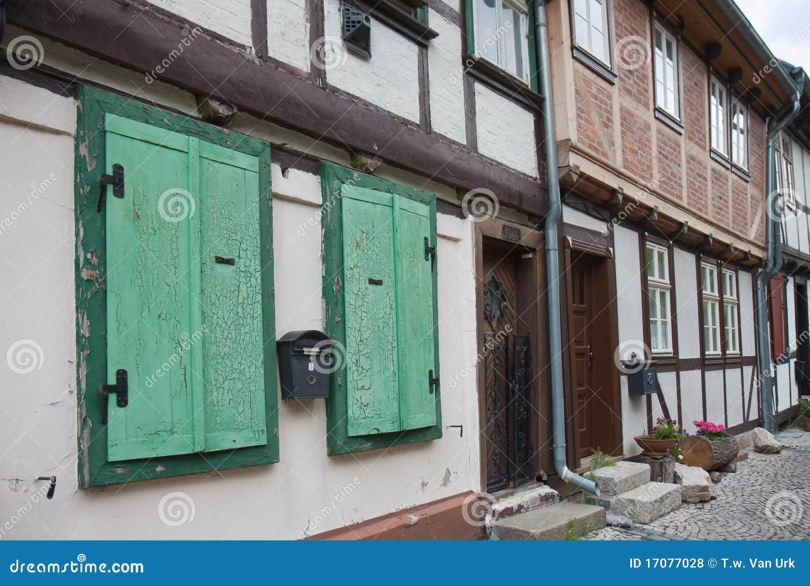 Streetview города немецкое средневековое старое