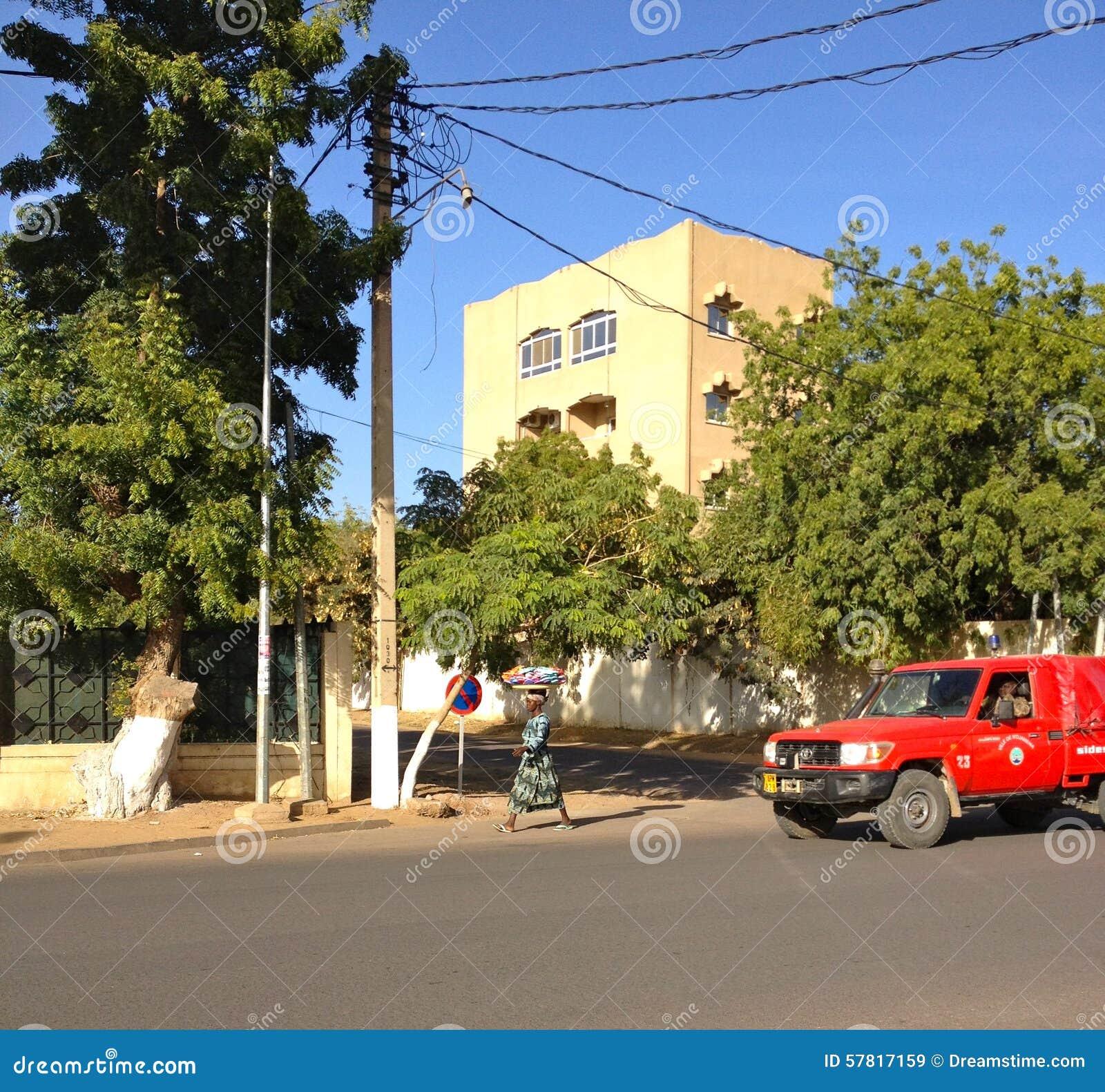 Streetview du centre de la ville de Ne Djamena, Tchad