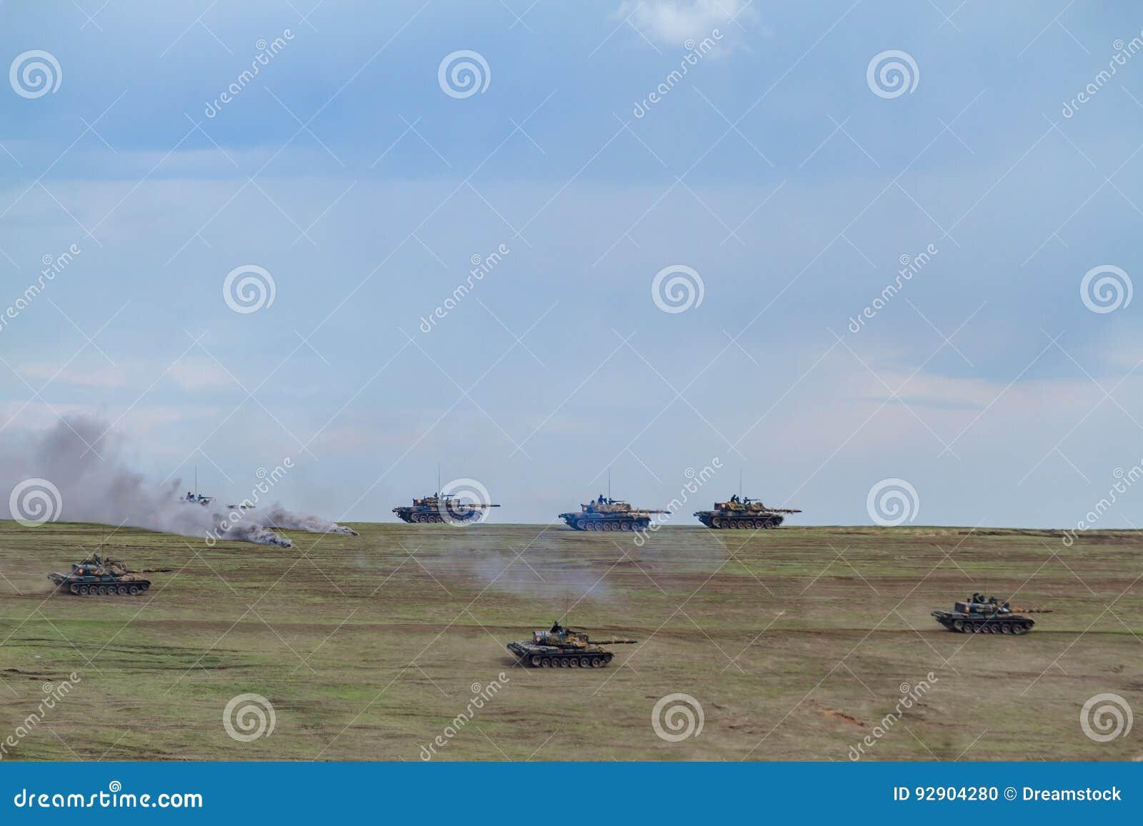 Strefa działań wojennych z zbiornikami