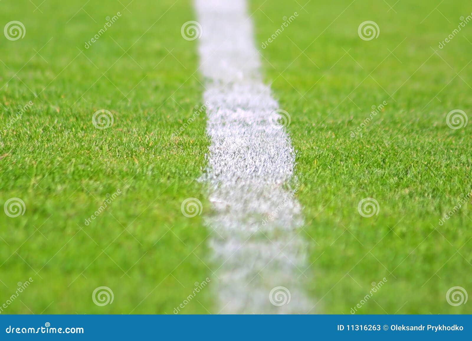 Streifen auf grünem Fußballplatz