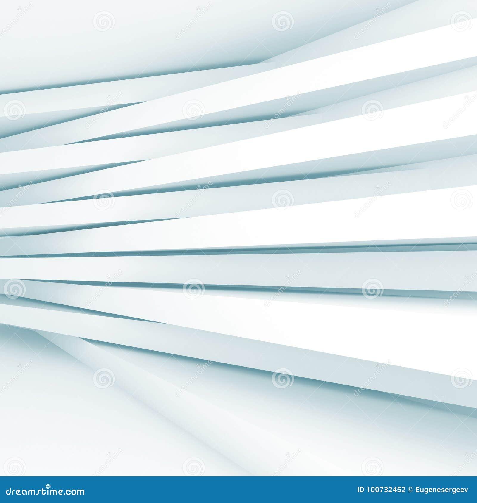 Streifen Sie Strahlen Auf Der Wand Blaues Getontes Muster 3d