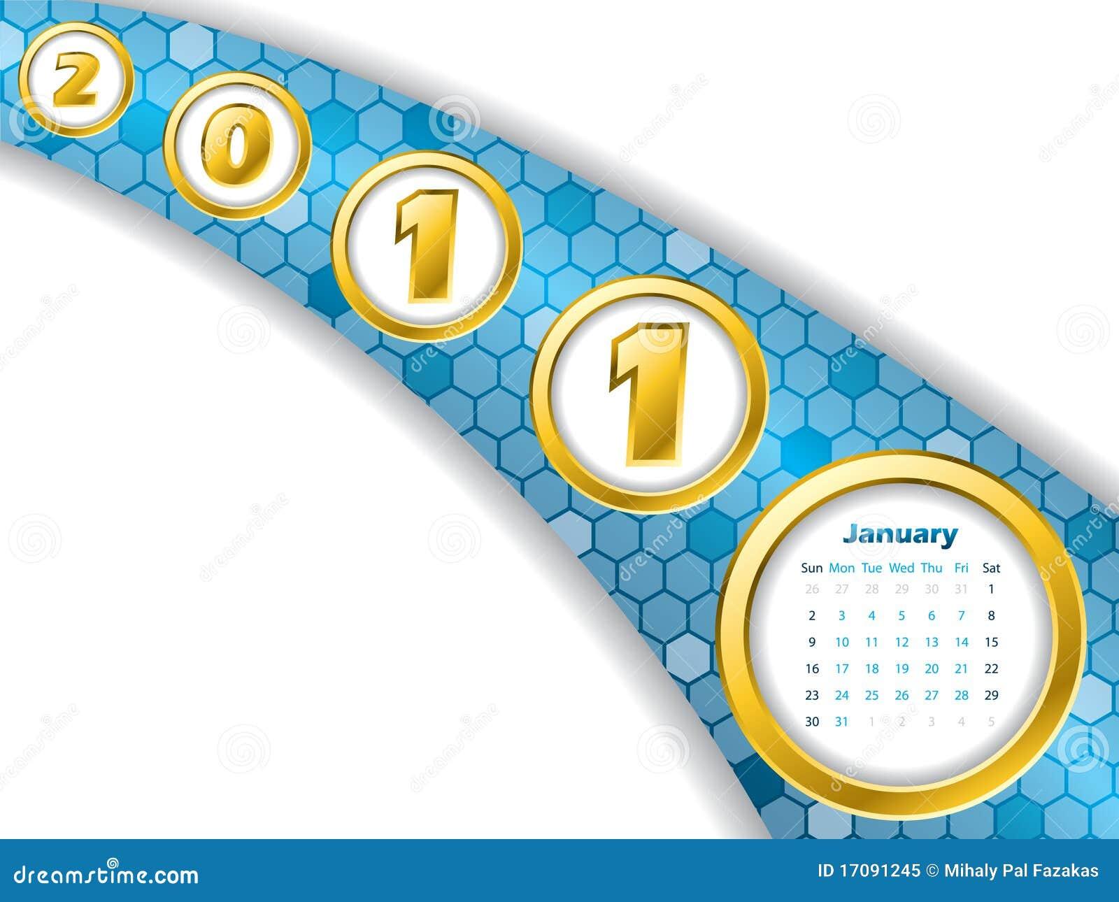 Streifenkalender Januar-2011