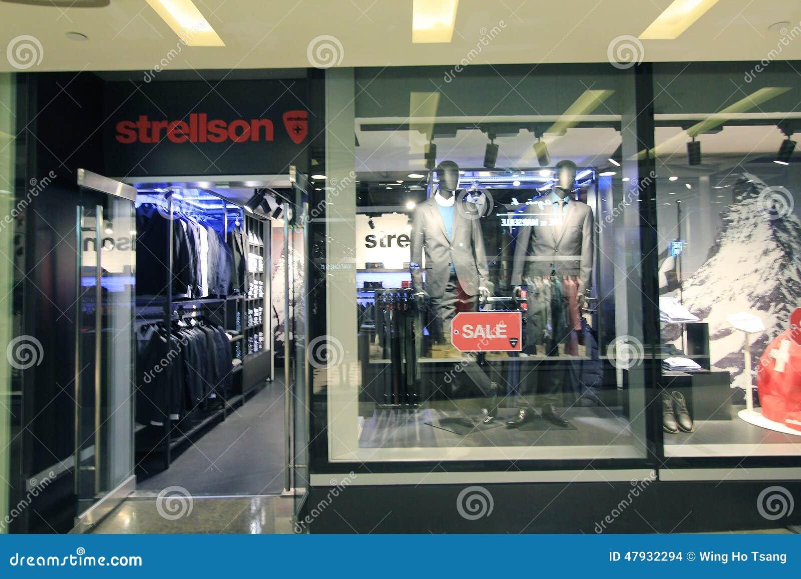 strellson shop in hong kong editorial stock image image. Black Bedroom Furniture Sets. Home Design Ideas