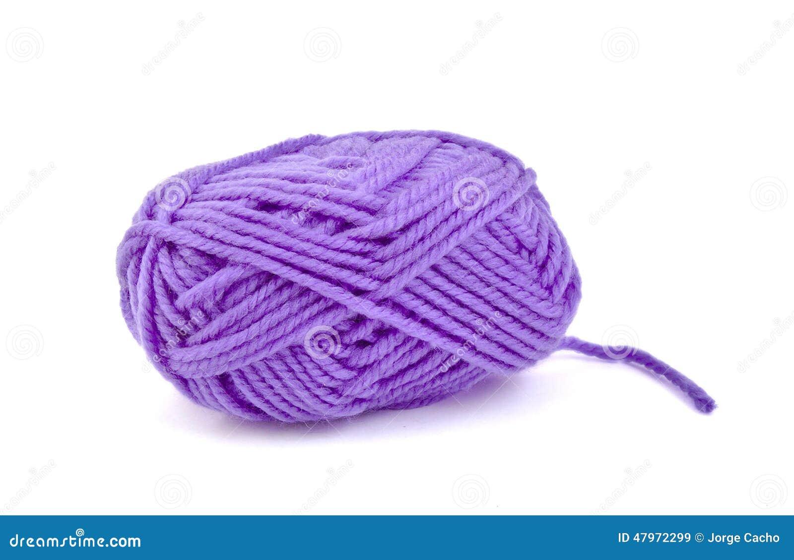 Streng van purpere wol