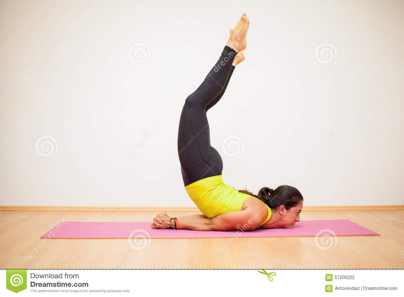 Strength And Balance In Yoga Class Stock Photo - Image of