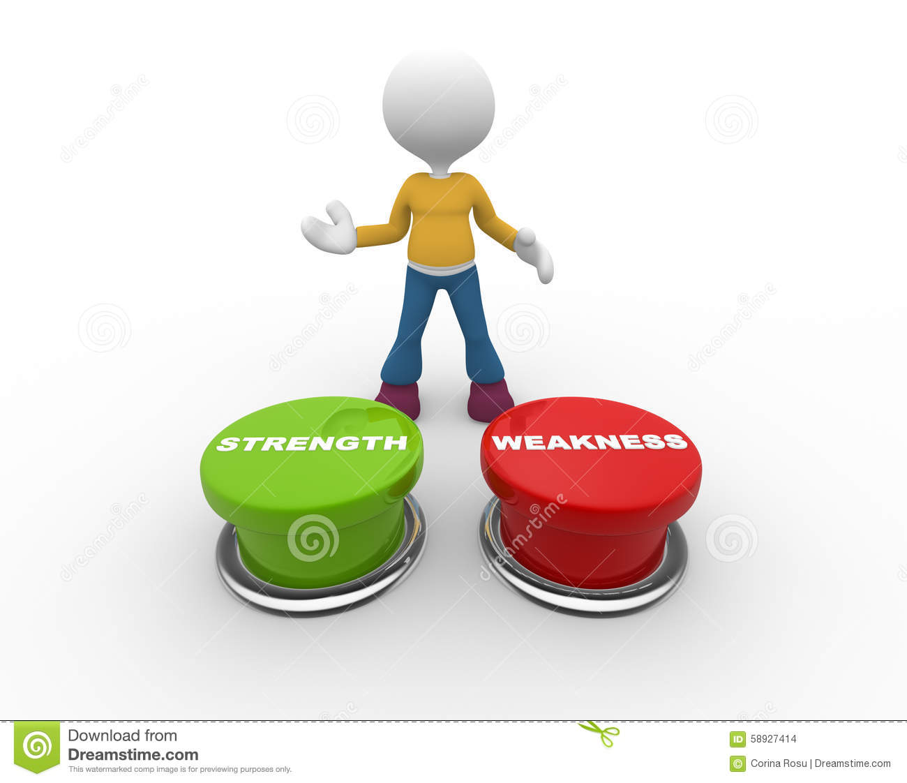 strength vs weakness switch choose strong option stock strength vs weakness stock images