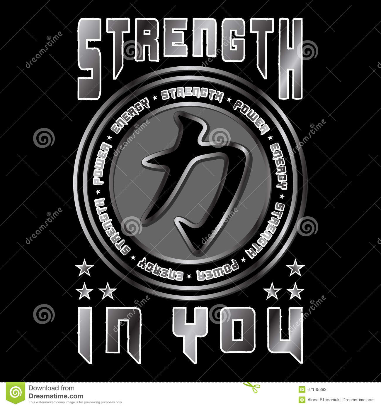 Strength In You Quote Stock Vector Illustration Of Illustration