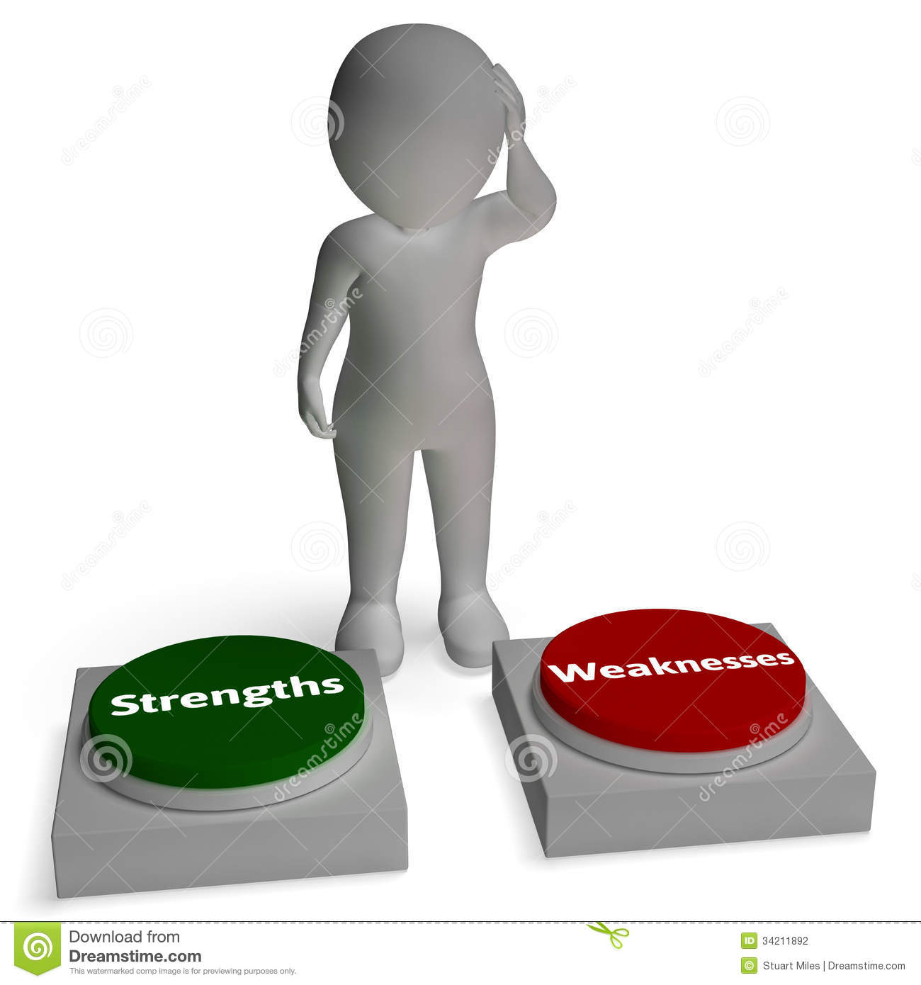 strength vs weakness person lifting word strong stock illustration strengths weaknesses buttons shows weakness or strength stock photography
