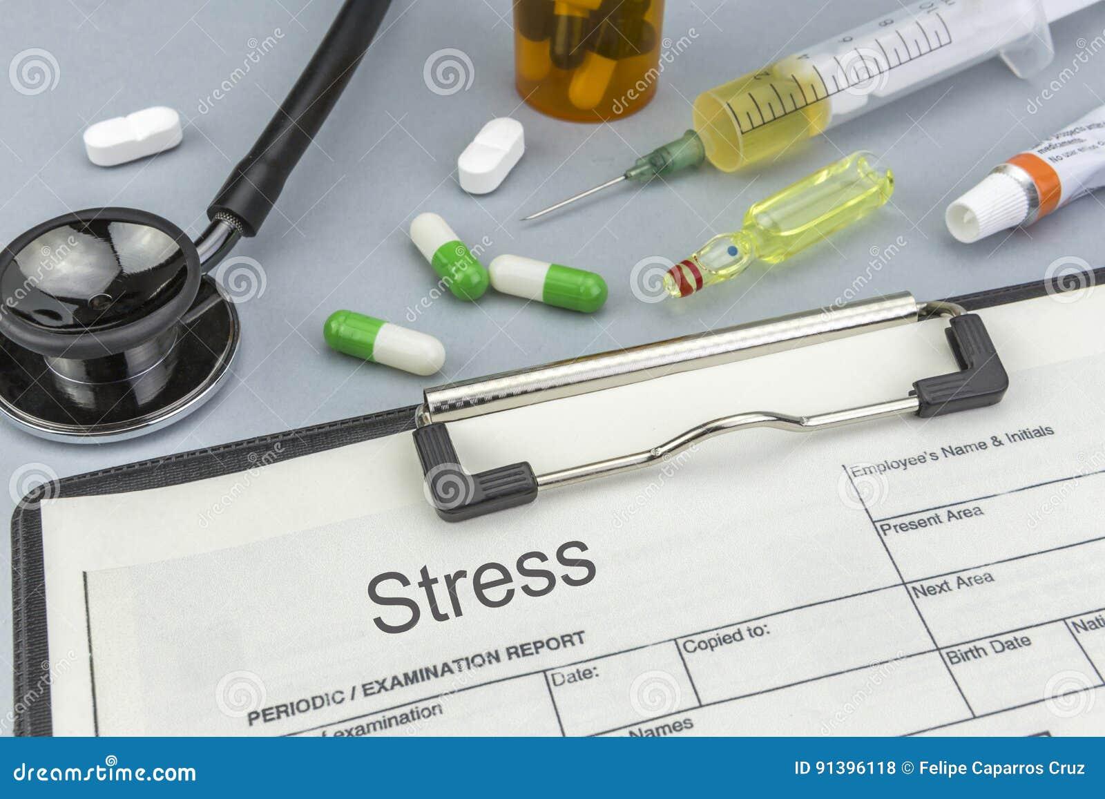 Stres, medycyny i strzykawki jako pojęcie,