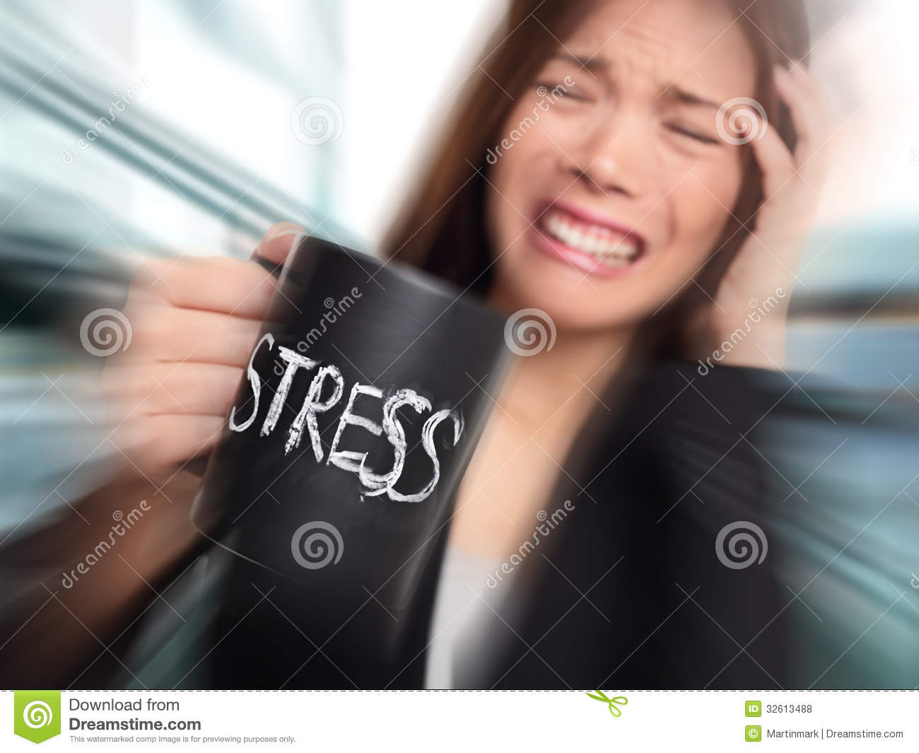 stress business person stressed at office stock photo image of