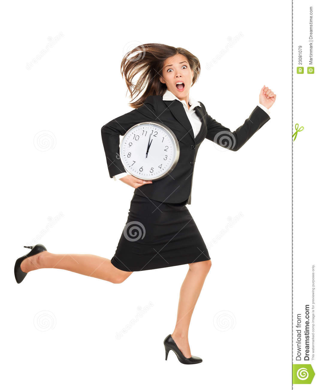 Woman Running Late