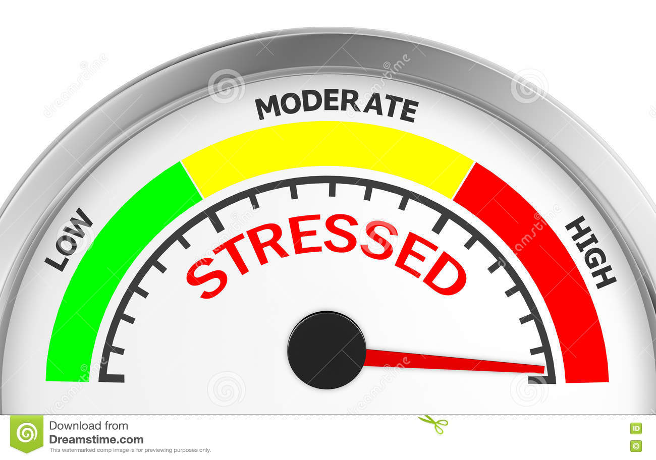 Stress Level Meter : Worry cartoons illustrations vector stock images