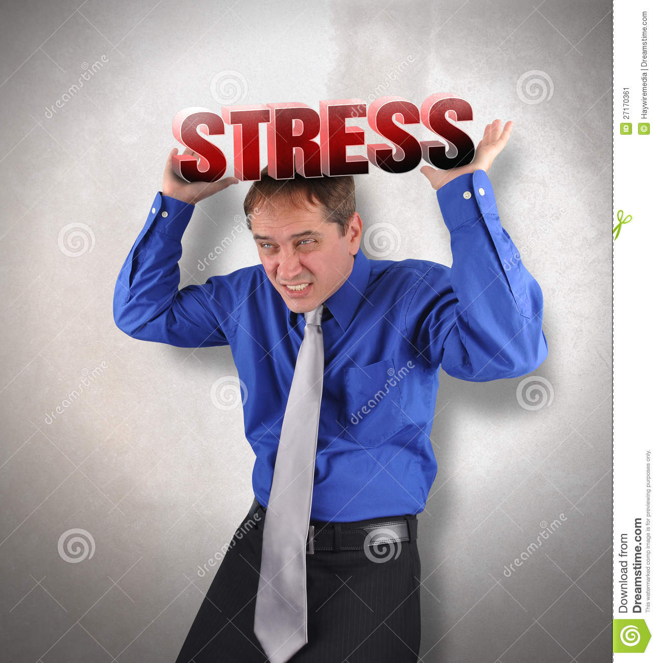 Stress Man Under Pressure Stock Image Image 27170361