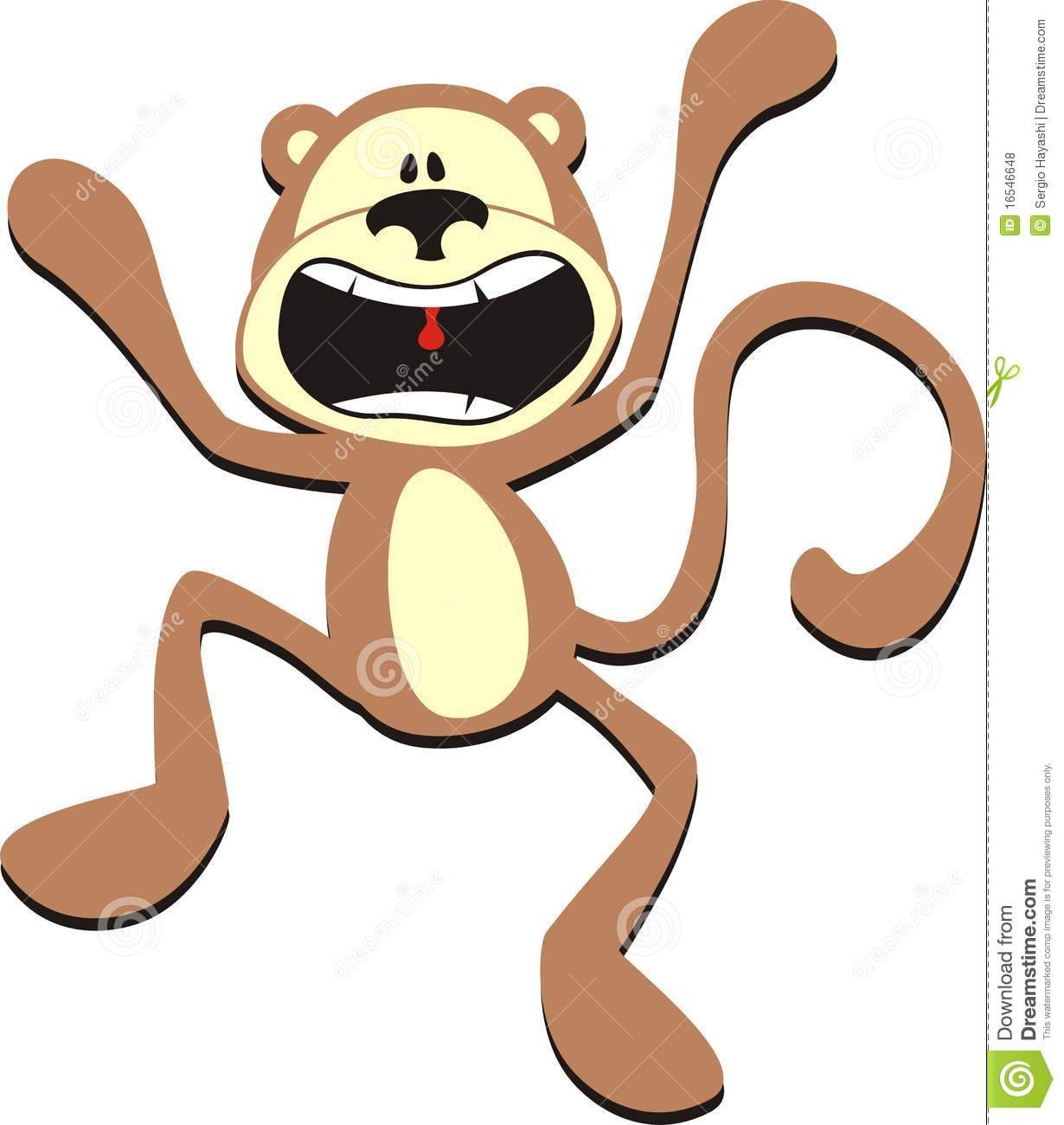 stress monkey royalty free stock photos image 16546648