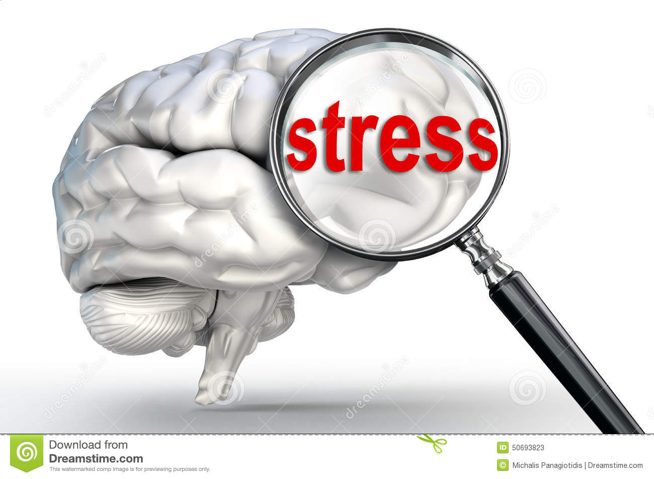 Stress word on magnifying glass and human brain stock illustration download stress word on magnifying glass and human brain stock illustration illustration of depressed ccuart