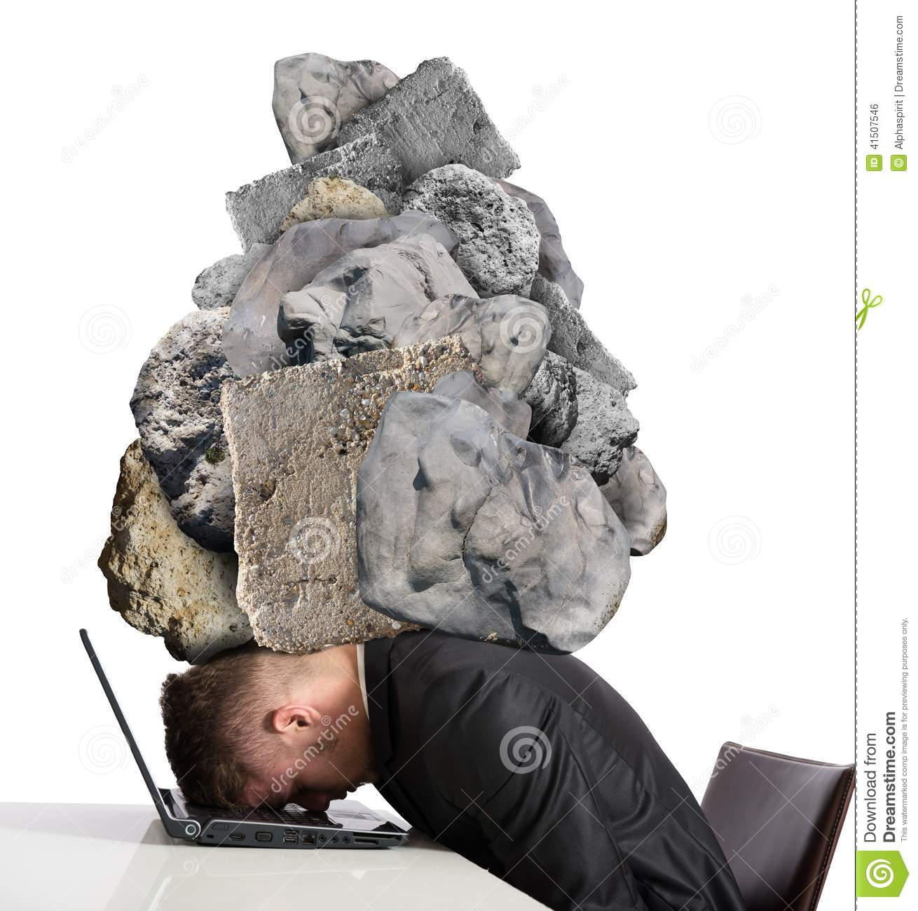 Stress At Work Stock Photo Image Of Loose Idea Fatigue
