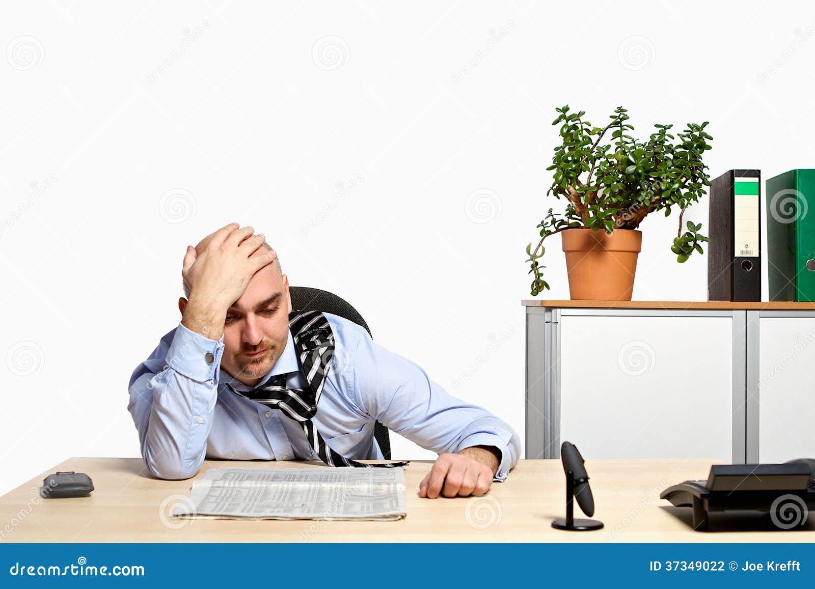 Stressad affärsman