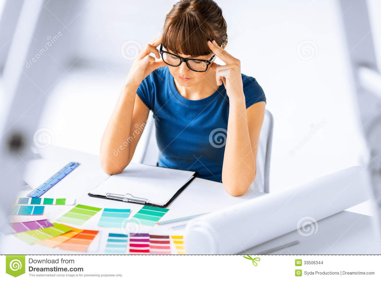 Stressed Secretary Clipart Stressed interior designer
